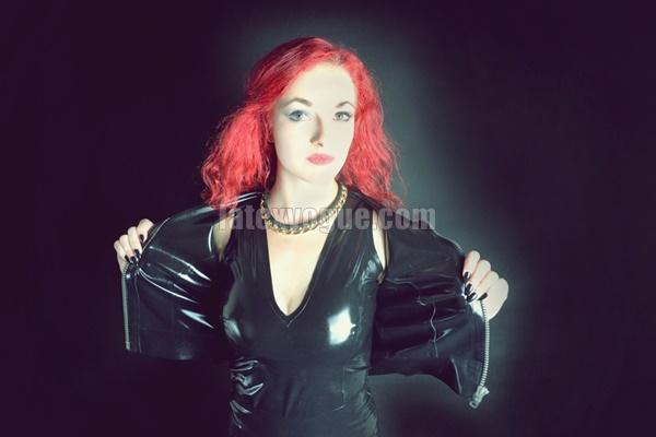 Latex Jacket Skirt Redhead Teen 64