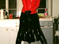 heavy rubber fetish photoshoot in sexy latex blouse with puffed sleeves