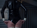 bizarre latex fetish nun in high heels and rubber hood