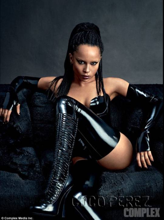 Zoe Kravitz poses in latex outfit for Complex magazine